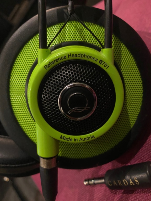 AKG Q701 headphones with Cardas XLR headphone cable Akg_q711