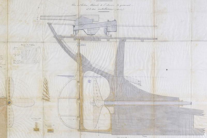 SAGITTAIRE - Canonnière de station - 1882 - Éch : 1/50 Captur14