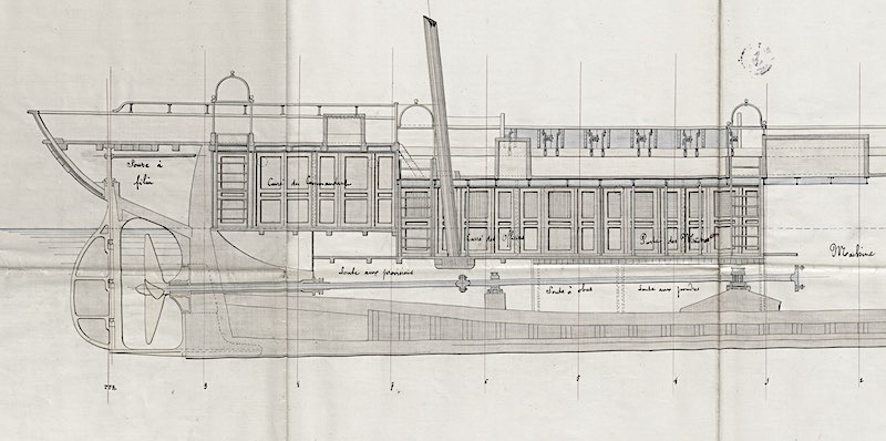 SAGITTAIRE - Canonnière de station - 1882 - Éch : 1/50 Captur15