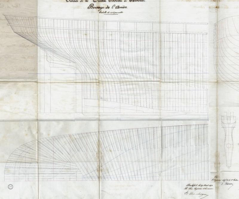 SAGITTAIRE - Canonnière de station - 1882 - Éch : 1/50 Captur16