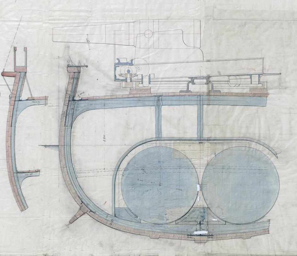 SAGITTAIRE - Canonnière de station - 1882 Crocod11