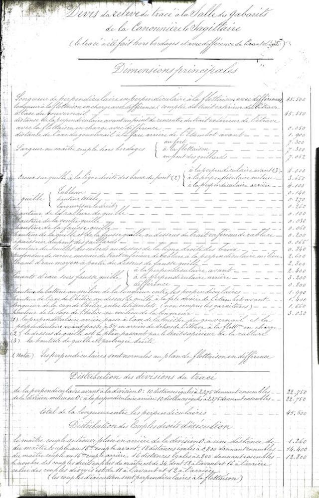 SAGITTAIRE - Canonnière de station - 1882 - Éch : 1/50 - Page 2 Devis_12
