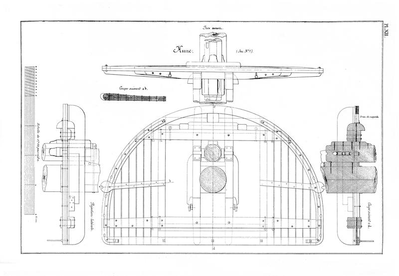 SAGITTAIRE - Canonnière de station - 1882 - Éch : 1/50 Rmpl_011