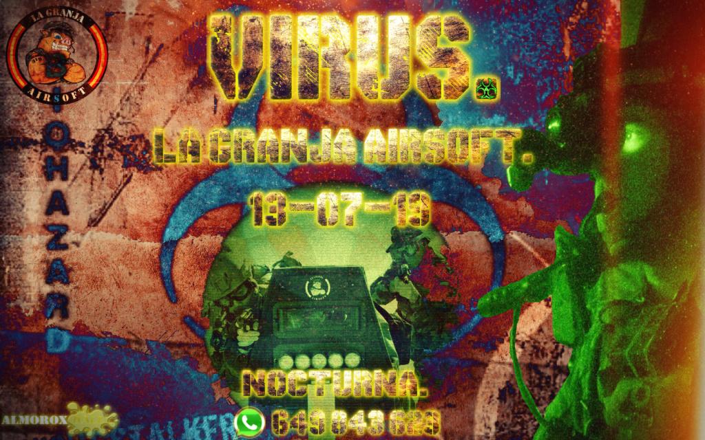 VIRUS. NOCTURNA. LA GRANJA AIRSOFT. 13-07-19 Cartel39
