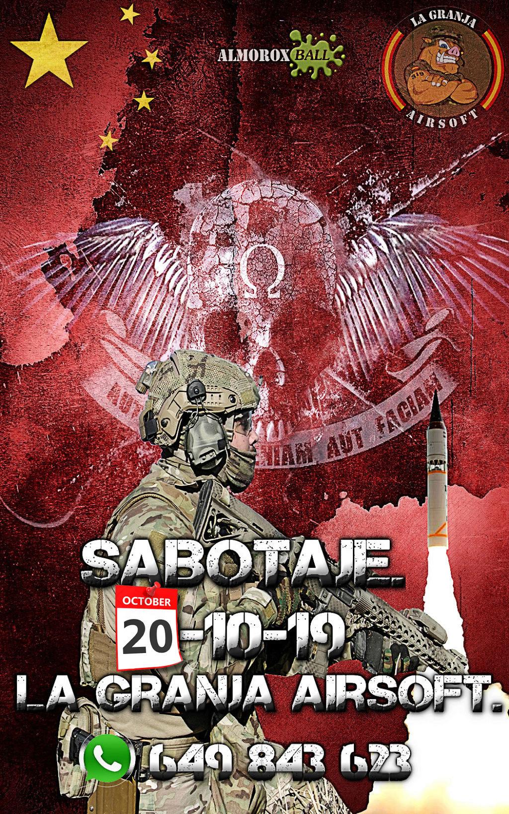 SABOTAJE. PARTIDA ABIERTA. 20-10-19. LA GRANJA AIRSOFT. Cartel61