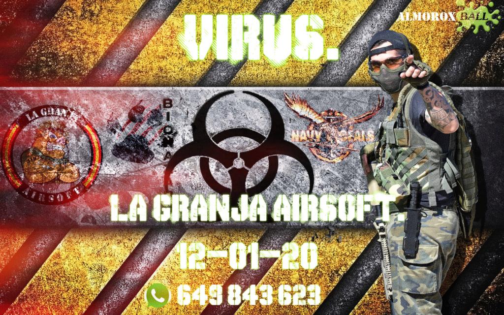 VIRUS. LA PARTIDA ABIERTA . LA GRANJA AIRSOFT. 12-01-20. Cartel70