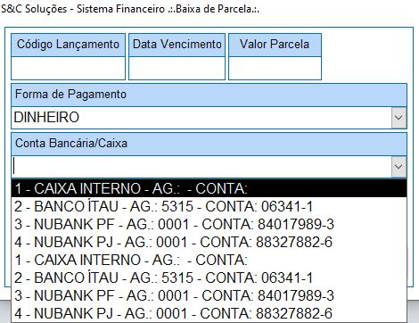 [Resolvido]Caixa de combinação desvinculada repetindo dados Erro210