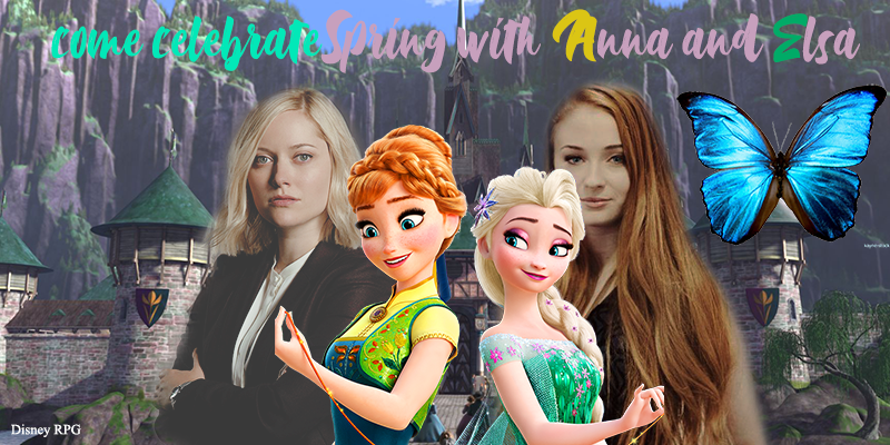 Elsa, Anna, j'ai dû faire un header sur le thème du printemps...  Header11