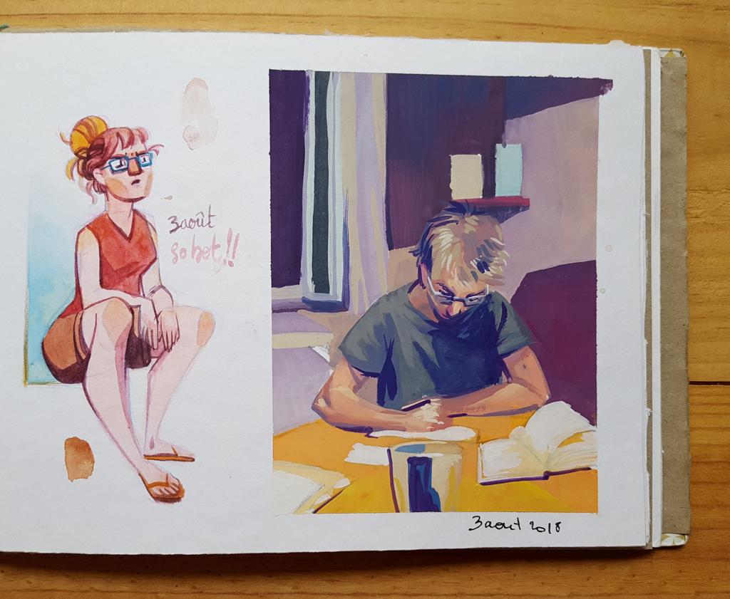 Sketchbook : IsaArne [ Challenge de l'ete P7 ] - Page 6 20180817