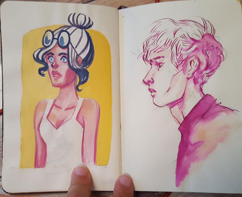 Sketchbook : IsaArne [ Challenge de l'ete P7 ] - Page 6 20180914