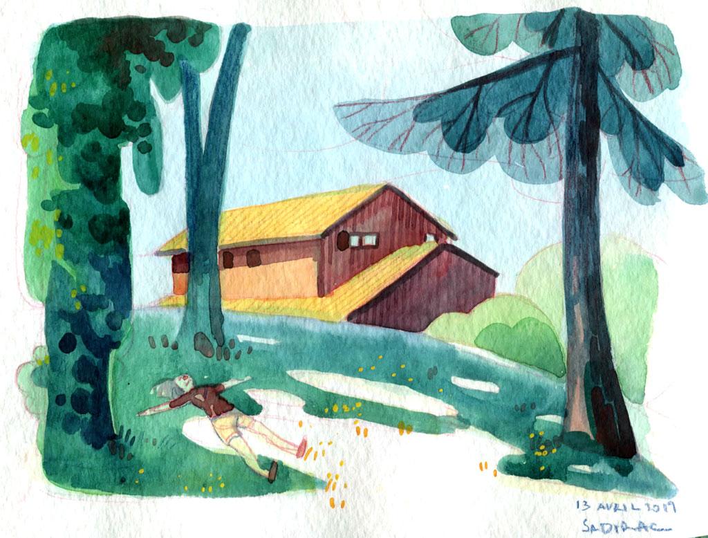 Sketchbook : IsaArne [ Challenge de l'ete P7 ] - Page 7 Landsc11
