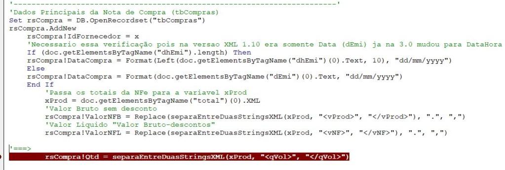 [Resolvido]XML campo Quantidade Qtd10