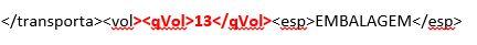 [Resolvido]XML campo Quantidade Qvol10