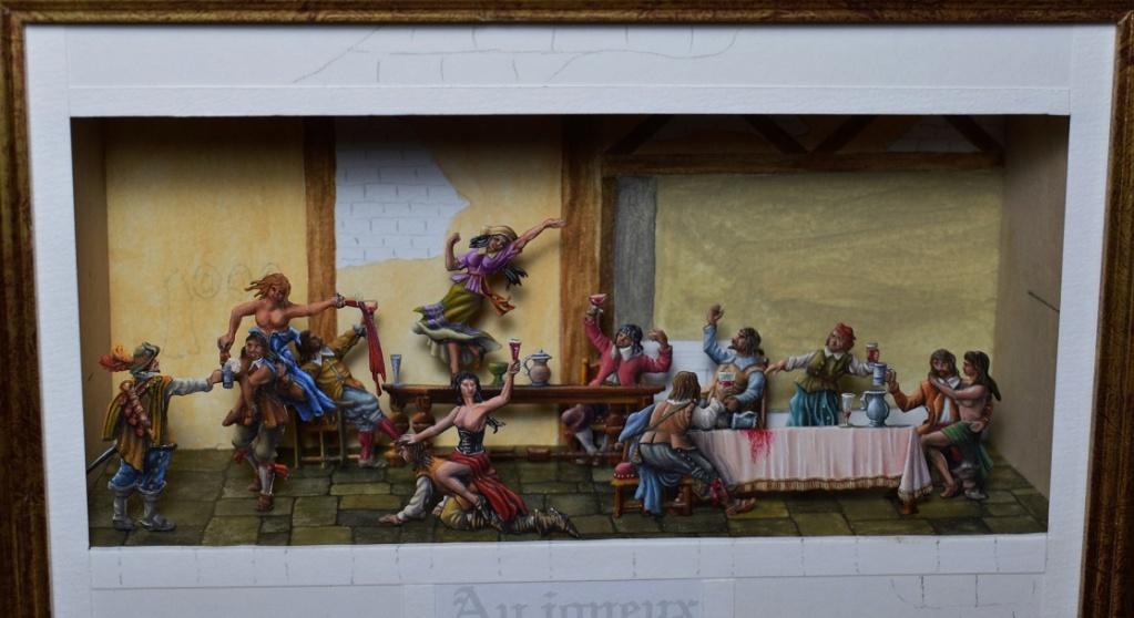l'auberge du Coq Hardi en 1640 - diorama en boite - plat 30mm - Page 2 Dsc_0012