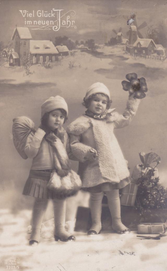 Motiv-Kinder-Neujahrs-Grüsse 4210