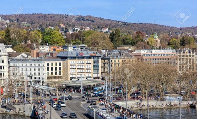 Alte Ansichts-Karten Bellevue-Platz Stadt Zürich 55203010