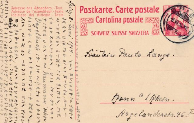 Geheimsprache auf Postkarte 6a10