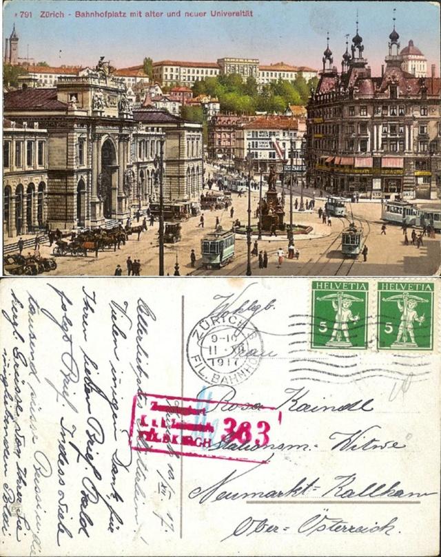 Alte Ansichts-Karten aus der Innen-Stadt Zürich Ak_ch_44