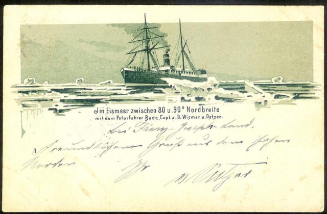 Postkarte mit seltener Vignette. Expedition Arktis. Arktis10