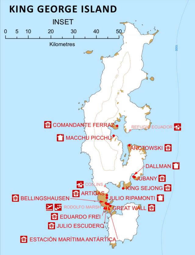 Forschungs-Basis Cientifica Artigas und Rettungs-Schiff ROU 26 Vanguardia Comnap10