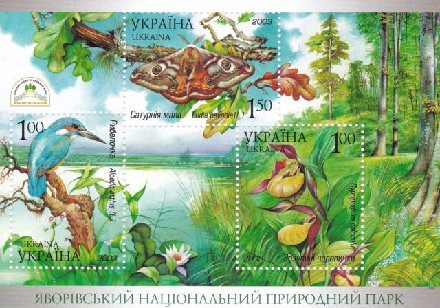 Kleinbogen Ukraine, Blockausgabe: Nationalpark Jaworiw Img_2193