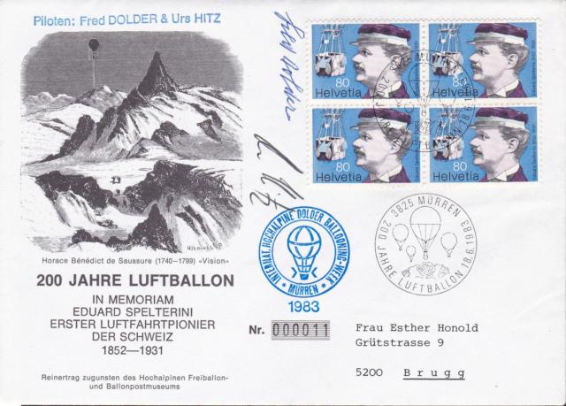 Gas-Ballon-Fahrt 1983 Zu Ehren von Eduard Spelterini  Img_2220