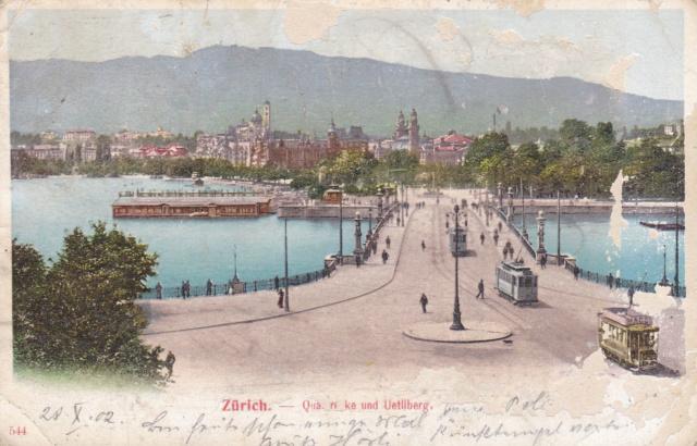 Alte Ansichts-Karten Bellevue-Platz Stadt Zürich Img_2422