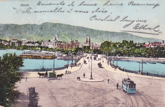 Alte Ansichts-Karten Bellevue-Platz Stadt Zürich Img_2424