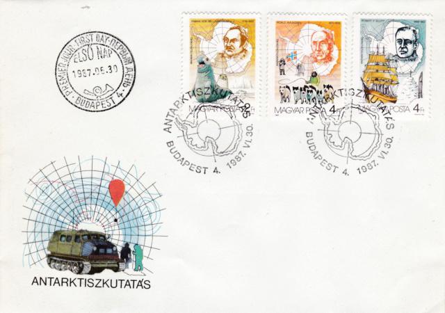 Ersttags-Brief Ungarn 75 Jahre Antarktis-Forschung1987 Img_2449