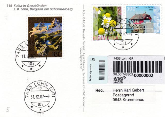 Lohn GR - 42 Einwohner Lohn110