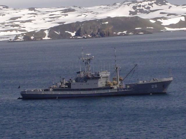 Forschungs-Basis Cientifica Artigas und Rettungs-Schiff ROU 26 Vanguardia Rou-2610