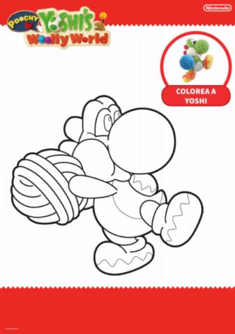 Minijuego Colorea A Yoshi