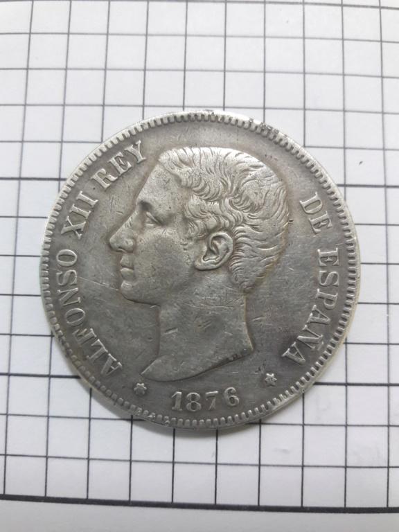 5 pesetas 1876. Alfonso XII 20180810