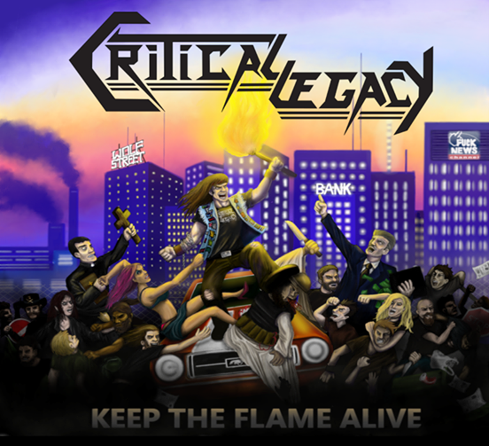 "CRITICAL LEGACY - Leur premier album, ""Keep The Flame Alive"" 12371610"