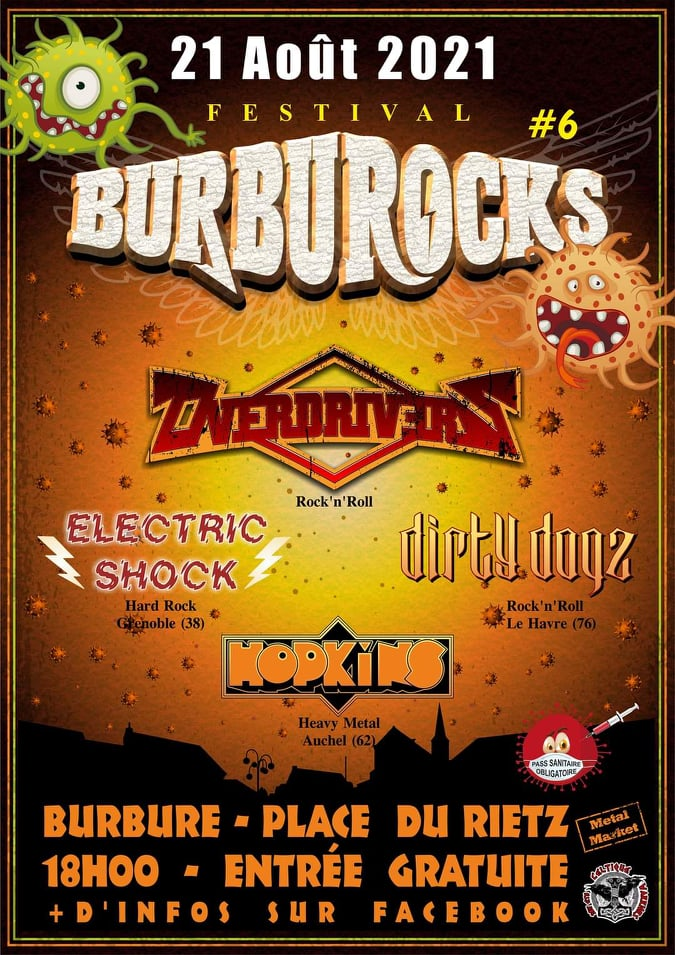 ELECTRIC SHOCK + OVERDRIVERS + DIRTY DOGS - à Burbure le 21 août 2021 21886010