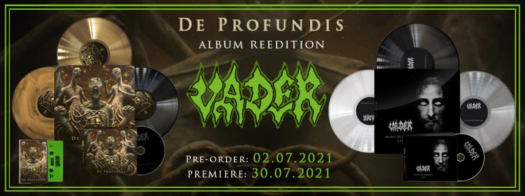 """[Report printemps 2021] VADER - Réédition de l'album """"De Profundis"""" fin 2020... dans tous les formats ! 42058b10"""
