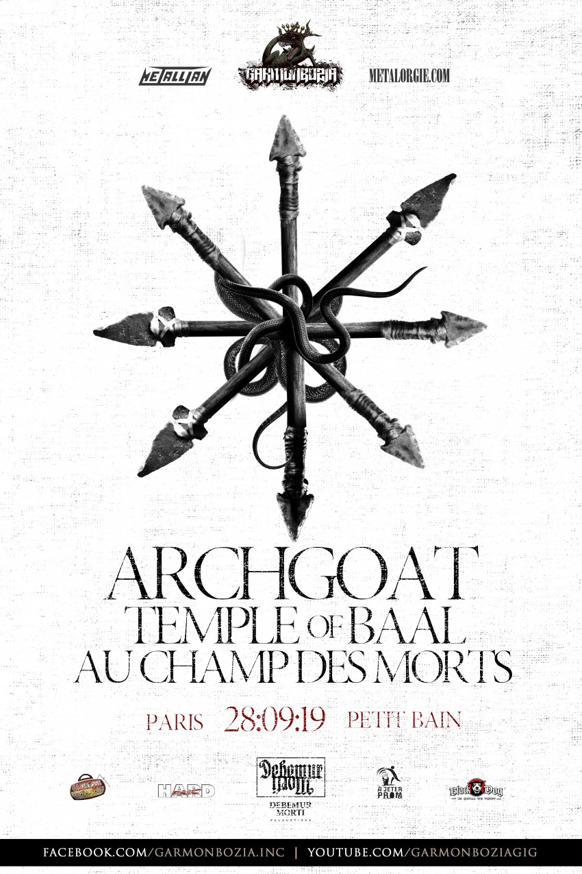 Le 28-09-2019 - Le Petit Bain, Paris - Archgoat + Au Champ des Morts + Temple Of Baal 5648910