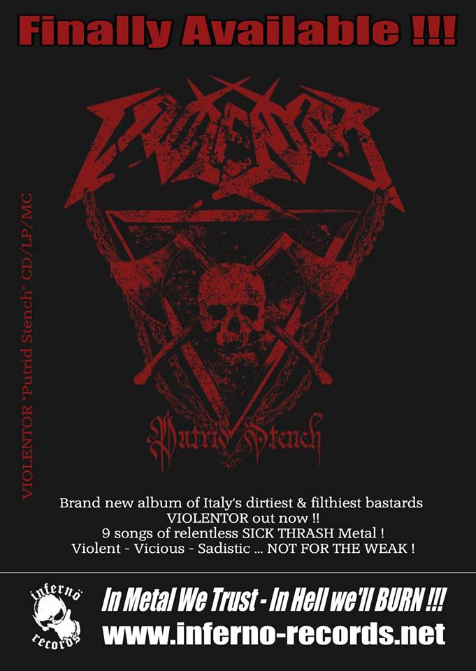 VIOLENTOR (Thrash Metal / Italie) révèle son prochain album 57366610