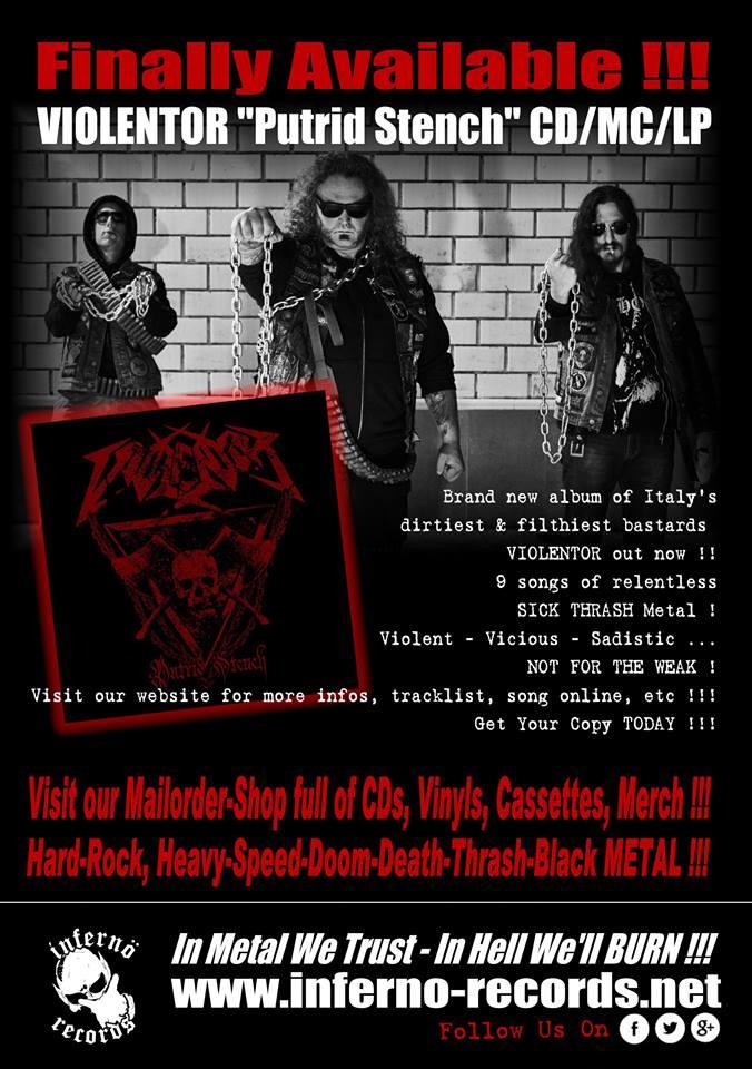 VIOLENTOR (Thrash Metal / Italie) révèle son prochain album 57404810