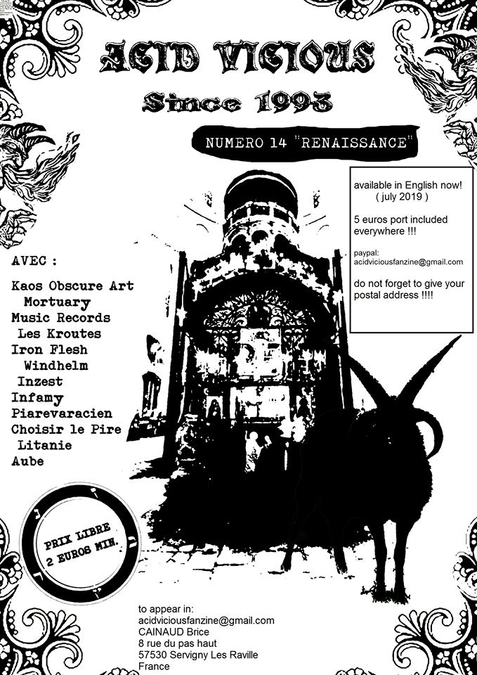 Le fanzine ACID VICIOUS renaît de ses cendres 66474910