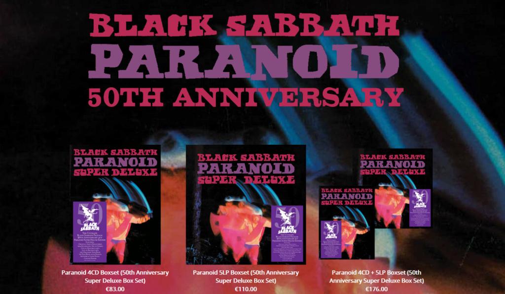 """BLACK SABBATH - Annonce d'une grosse réédition de """"Paranoid"""" pour ses 50 ans 685710"""