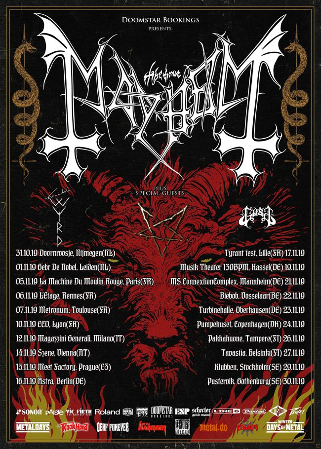 MAYHEM annonce un album et une tournée européenne Aypewn10