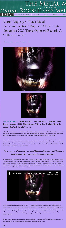 "ETERNAL MAJESTY - ""Black Metal Excommunication"" Index15"