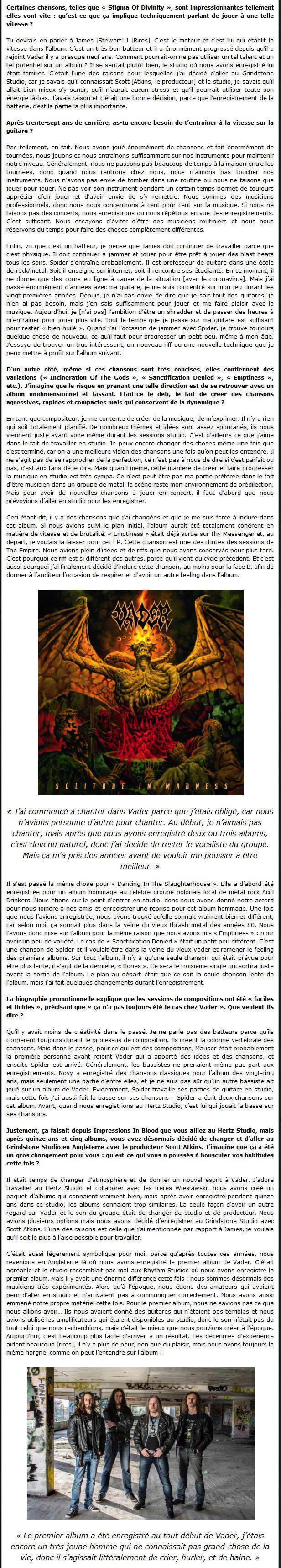 VADER - Interview de Peter par Radio Metal V210