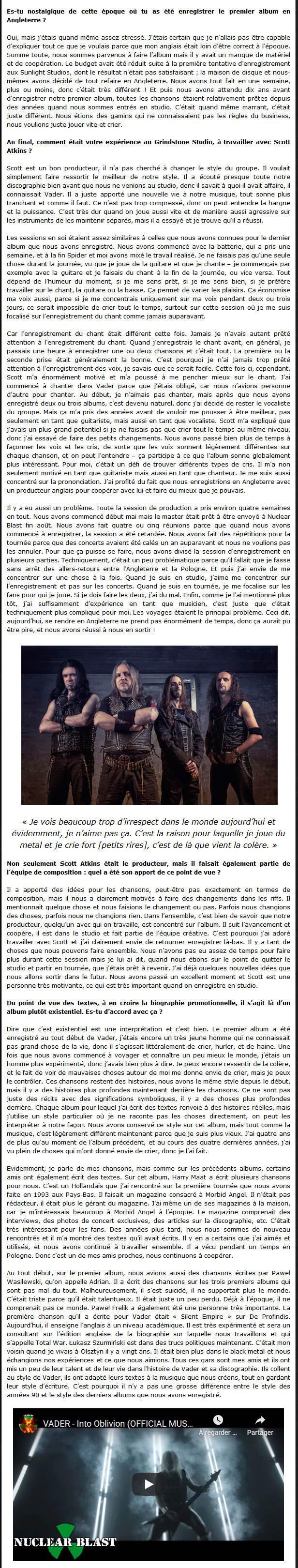 VADER - Interview de Peter par Radio Metal V310