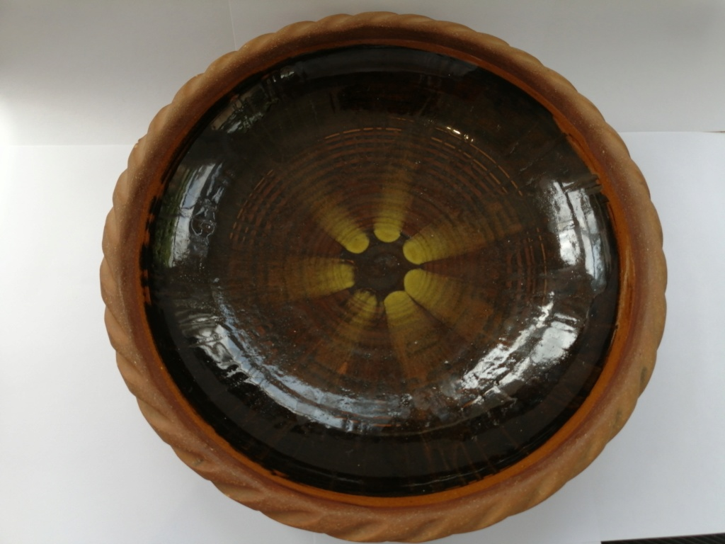 Old Clay Dish with Brown Glaze - Alan Frewin, Nonsuch Pottery  Camera12