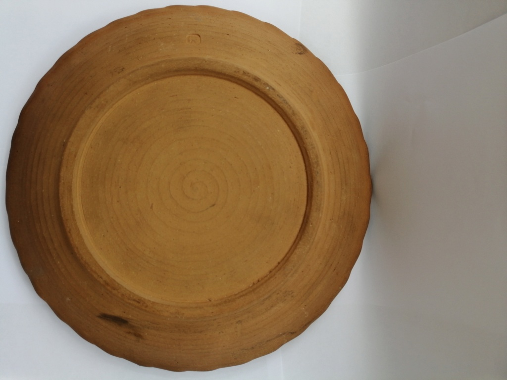 Old Clay Dish with Brown Glaze - Alan Frewin, Nonsuch Pottery  Camera13