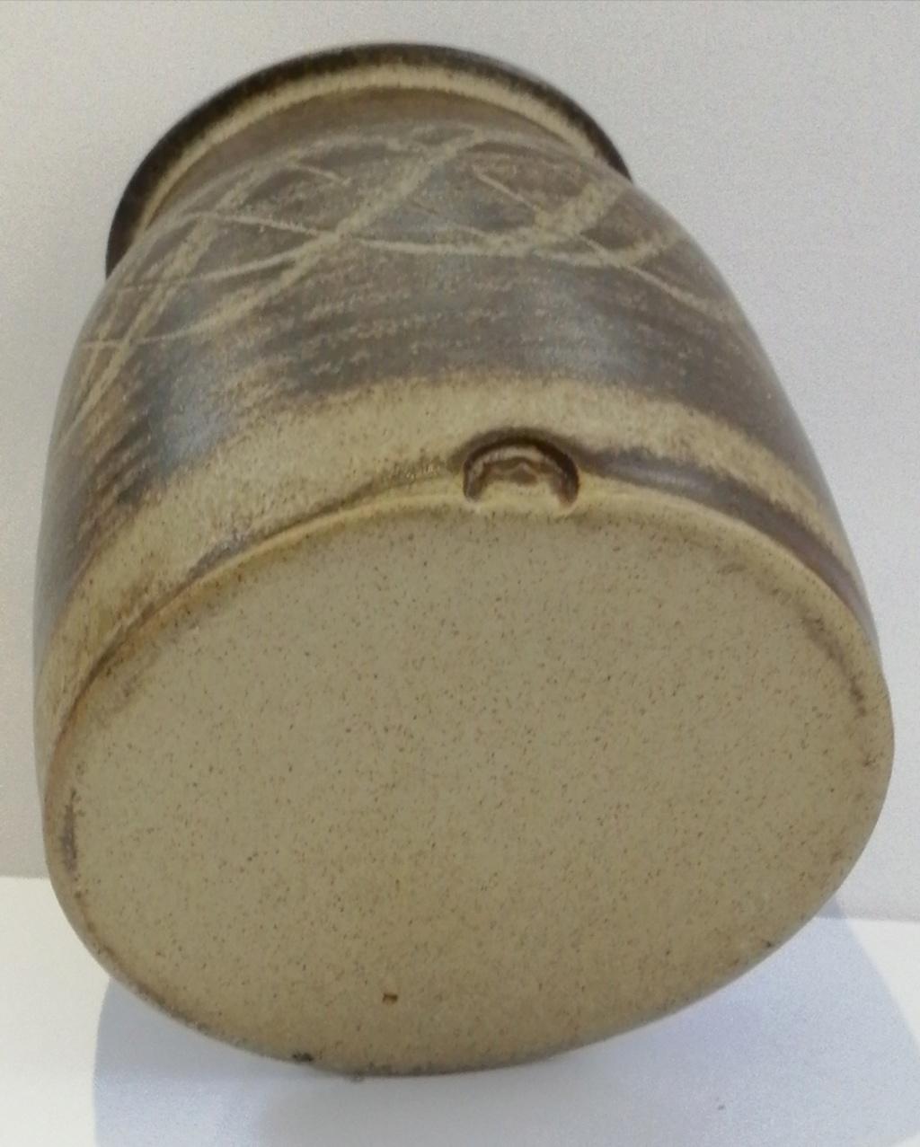 Small Brown Stoneware Pot Img_2053