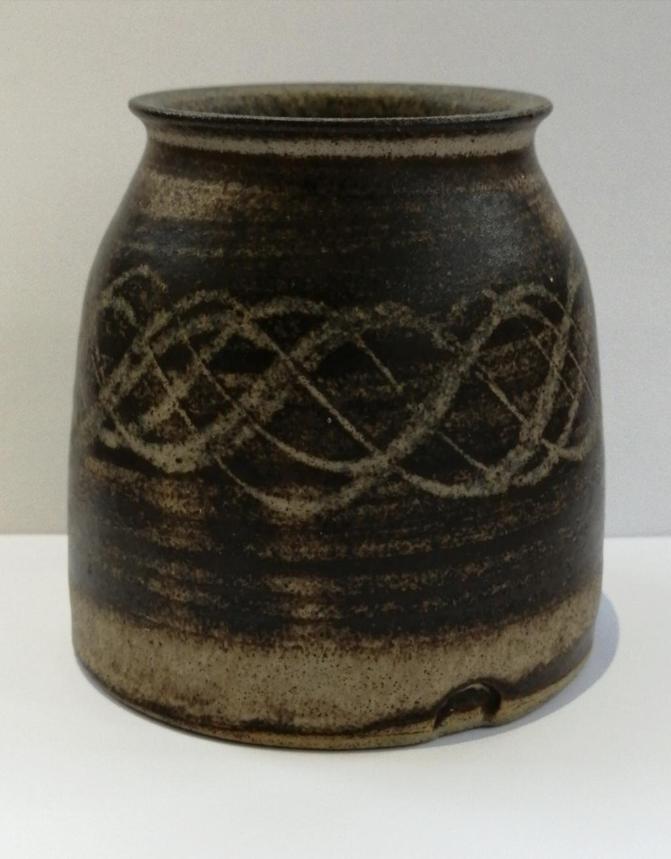 Small Brown Stoneware Pot Img_2055