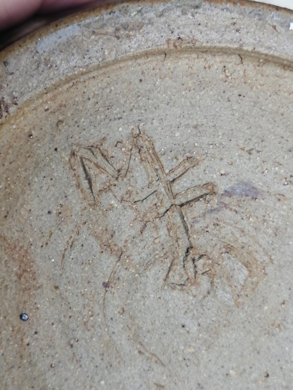 Old Stone vase with inscribed mark on base Img_2074